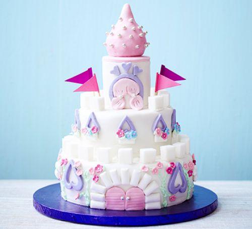 Designer Princess Castle Cake For Girls