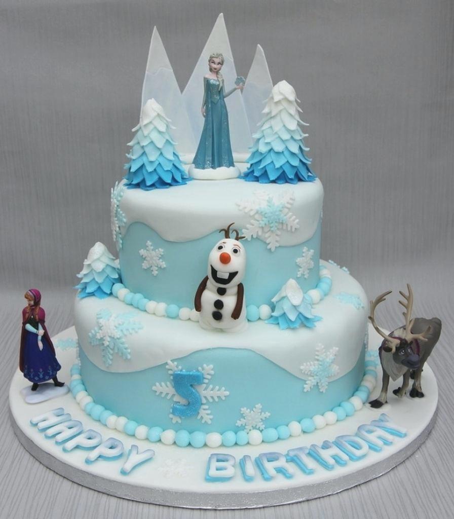 Frozen Elsa themed party cake