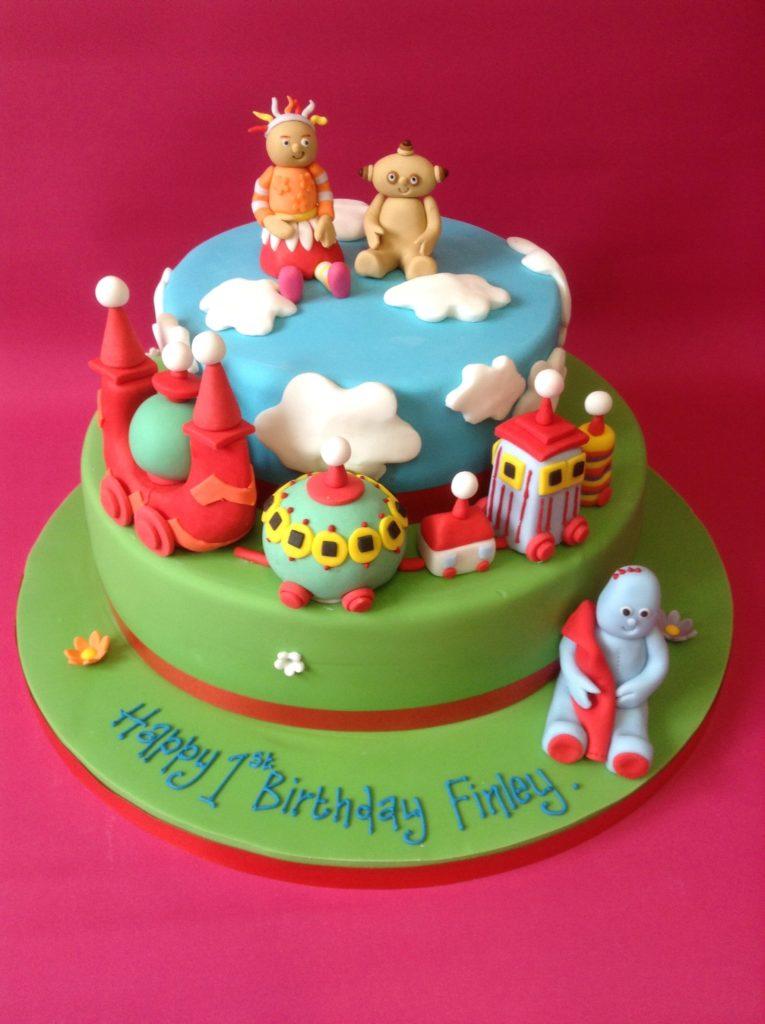 Toddler themed birthday cake