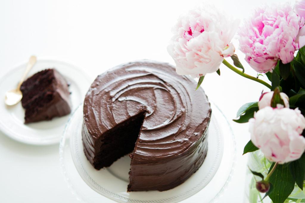Inspired chocolate Fudge cake