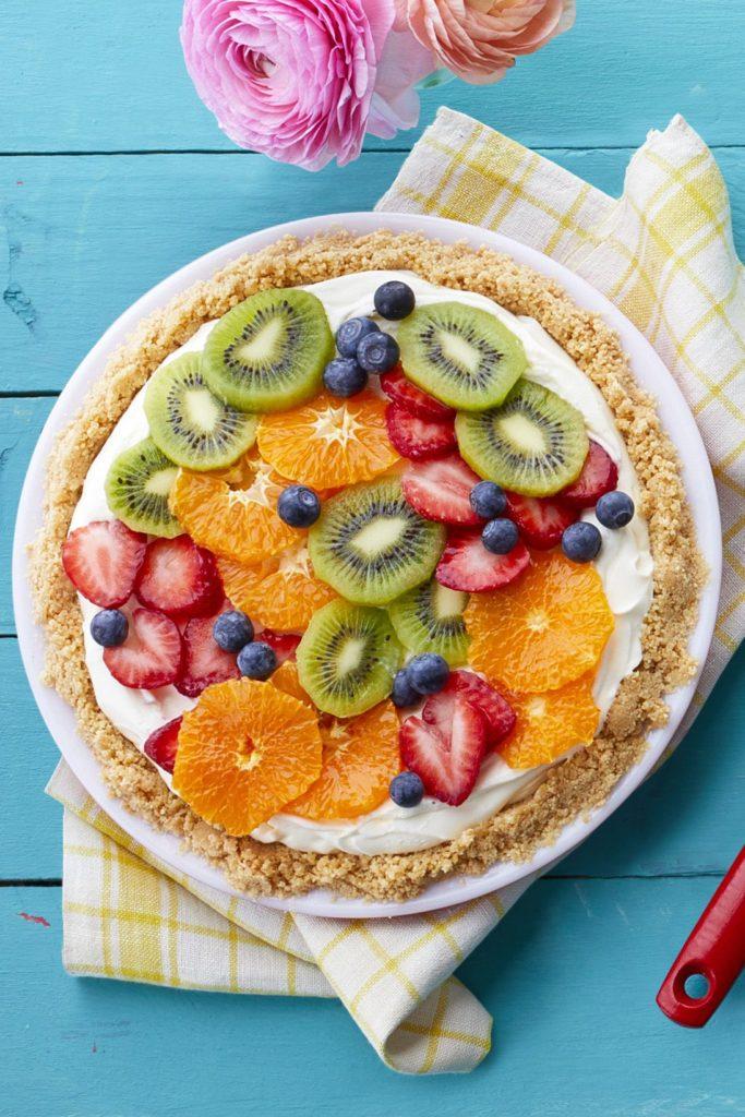 Fresh Fruit Cheesecake Pie