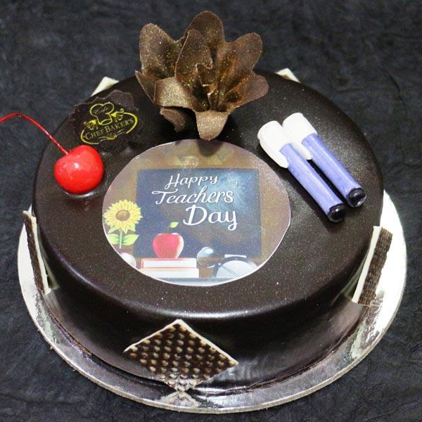 Teacher's day cake with photos