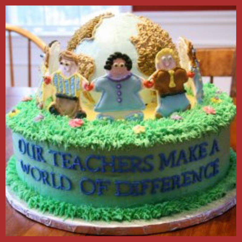 Teacher's Day Cake With a Quote