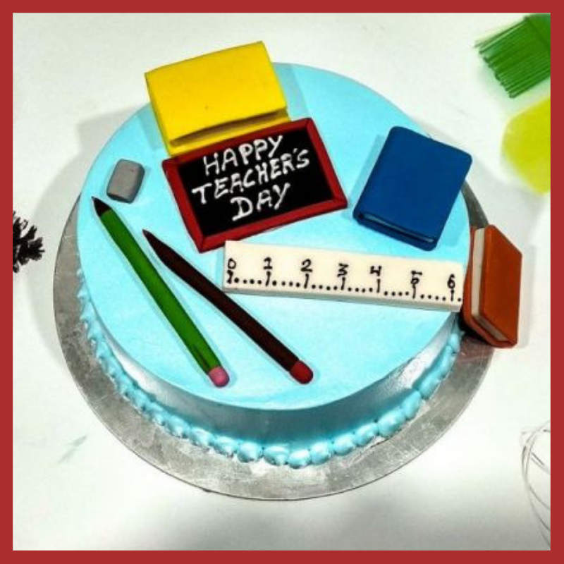 Teacher's day theme cake