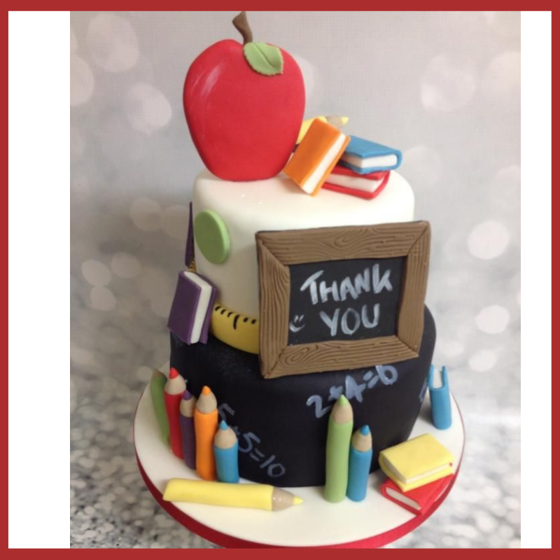 Teacher's day book Theme Cake