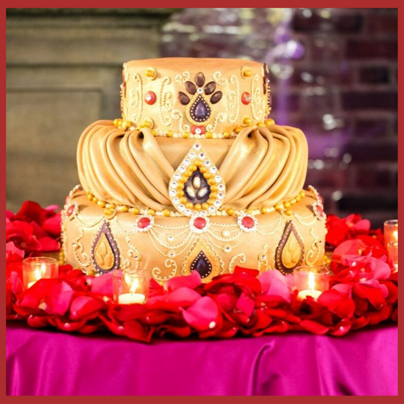 designer wedding cake