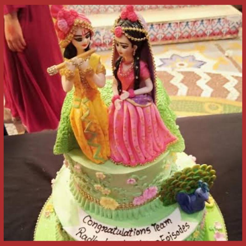 Radha Krishna Cake