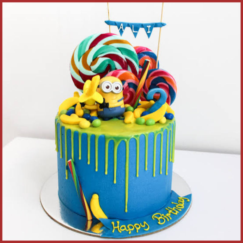 Cartoon Birthday Cake For Kids Amazing Character On Birthday Cakes